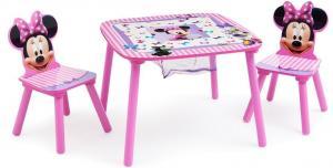 Set masuta multifunctionala si 2 scaunele Disney Minnie Mouse Delta Children