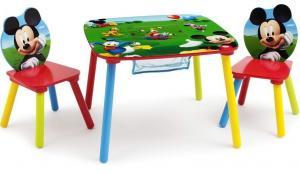Set masuta multifunctionala si 2 scaunele Disney Mickey Mouse Delta Children