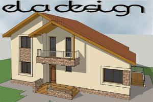 Vila cu etaj din lemn