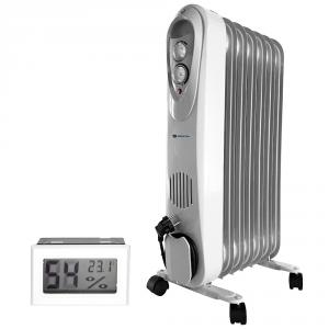 Calorifer electric cu ulei, Descon DA-J1500, putere 1500W + Termometru digital AgroPro