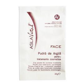 Pudra de argila pentru tratamente cosmetice
