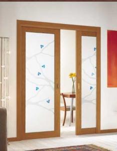 Usa glisanta lemn interior