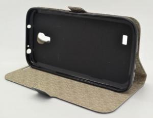 Book case Samsung Galaxy S4 i9500 neagra ( folie inclusa )