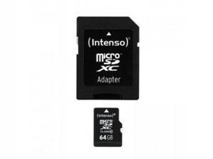 Card memorie MicroSDXC 64GB Clasa 10 Intenso