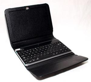 Husa cu tastatura bluetooth pentru Galaxy Tab P7300 Ora, neagra