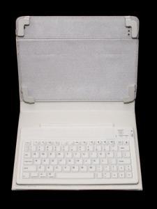 Husa cu tastatura bluetooth pentru iPad 2 Ora, alba