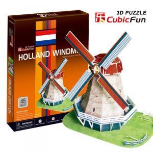 Moara de vant Olanda Puzzle 3D