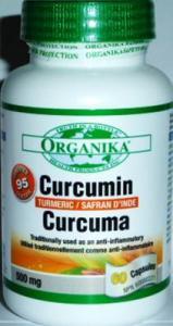 CURCUMIN 500 mg/60 caps -Antiinflamator,Antioxidant, Anticanceri