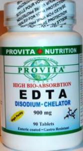 EDTA Disodium Chelate Biodisponibil-Gastro rezistent 900 mg/90 t
