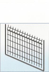 Gard din panouri bordurate