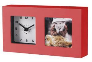 Ceas rosu cu rama foto