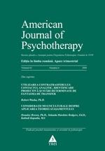 American Journal of Psychotherapy. Nr. 4/2008