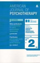 American Journal of Psychotherapy. Nr. 2/2009