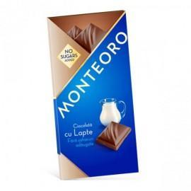 Ciocolata cu lapte Monteoro Fara Zahar - 90g