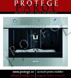 Masina automata cafea incorporabila, sticla Stopsol argintie/ inox, SMEG, Linia Linea, CMSC45