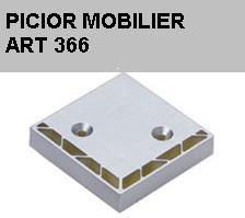 Picior plastic mobilier art 366