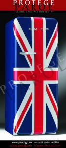 Combina Frigorifica 60cm Model Retro anii 50, steagul britanic, Smeg, FAB28RUJ1