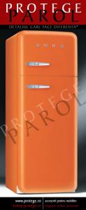 Combina Frigorifica SMEG Italia, model retro, portocaliu, deschidere dreapta, FAB30O7