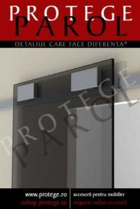 Elemente(sisteme) complete pentru 1 usa glisanta de sticla,80kg/usa,sine aluminiu-2ml,glisare superioara