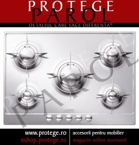 Plita gaz 75 cm, Inox, Smeg Italia, Design PIANO, P75