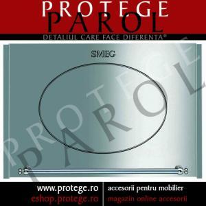 Usa Pentru Cuptor Cu Microunde, inox/garnituri argintii, Smeg, linia Coloniale, PMO66X