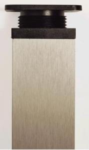 Picior ornamental patrat, reglabil, bronz periat,inaltime 100 mm