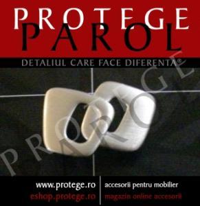 Maner WPO 651, nichel periat lucios, 36/032/34, curbat lin