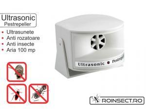 Dispozitiv cu ultrasunete impotriva soarecilor si gandacilor- Ultrasonic PestRepeller - 100 mp