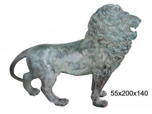 Statuie leu din bronz