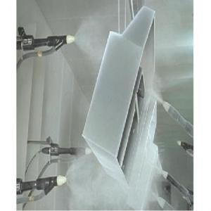 Vopsire automata cu pulberi in camp electrostatic