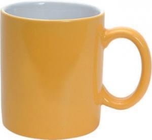 Cana  din ceramica galbena
