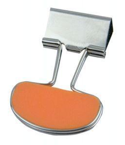 Clips metalic portocaliu