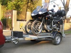 Remorca transport motociclete