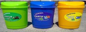Cos de gunoi 3 culori
