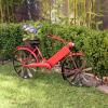 Ghiveci si suport pentru flori - bicicleta