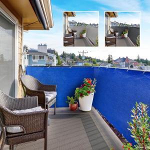 Prelata, paravan protectie balcon-albastru 5 metri
