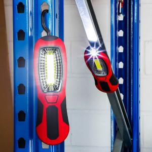 Lampa de lucru cu led COB si carlig de agatare, 2 leduri 20 cm