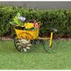 Ghiveci si suport pentru flori - vagon