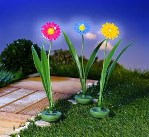 Decoratiune gradina floare solara-roz