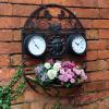Ghiveci decorativ pentru perete - cu ceas si