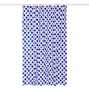 Perdea dus, PEVA, rezistenta la apa, 180x180 cm-Buline albastre