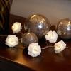 Ghirlanda luminoasa 10 trandafiri albi - cu baterie