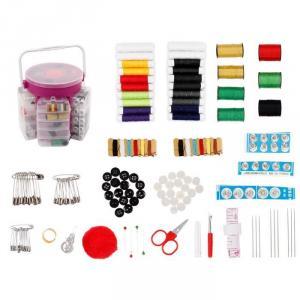 Set cu 210 accesorii pentru cusut-rosu