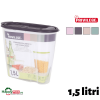 Cutie plastic depozitare cereale 1,5 litri