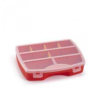 Caseta rosie compartimentata cu capac Venus