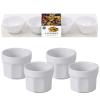 4 recipiente ceramica pentru servire si prezentare ø 5,5 cm
