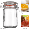 Borcan ermetic cu capac etans si garnitura pt.conservare alimente-250 ml