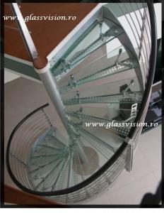 Scara interioara balustrada inox
