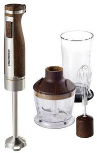 Mixer vertical Heinner HHB-1100WX, 1100 W, cutit inox, 20 viteze, cana 800 ml, inox - lemn