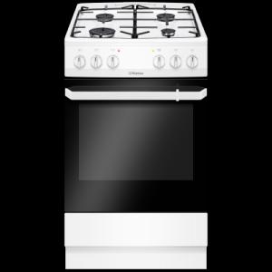 Aragaz Hansa FCMW56069, mixta, plita pe gaz, cuptor electric, latime 60 cm, 4 arzatoare, gratare emailate, aprindere electrica, grill, alb